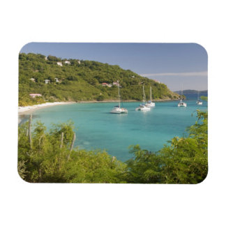 Popular moorings for bareboaters and charter rectangular photo magnet