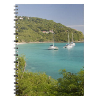 Popular moorings for bareboaters and charter spiral notebook