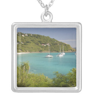 Popular moorings for bareboaters and charter square pendant necklace