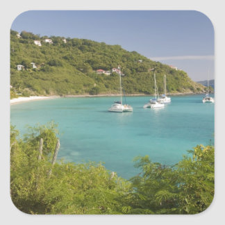 Popular moorings for bareboaters and charter square sticker
