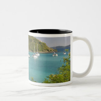 Popular moorings for bareboaters and charter Two-Tone coffee mug