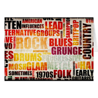 Popular Music Genres and Types on Grunge Card