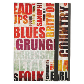 Popular Music Genres and Types on Grunge iPad Air Case