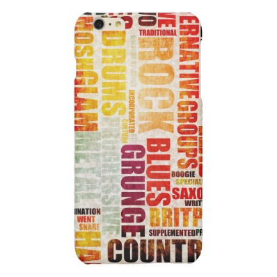 Popular Music Genres and Types on Grunge Matte iPhone 6 Plus Case