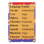 Popular Native American Languages List: Be PROUD iPad Mini Cases