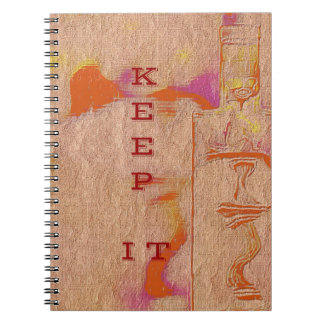 "Popular Peach Trending ""Keep it"" Slang Notebook"