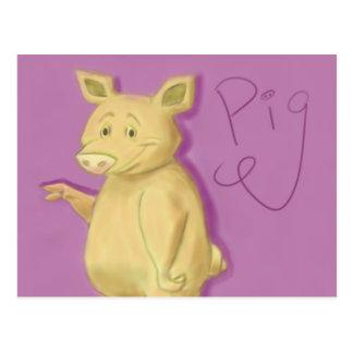 Popular Pig Postcard