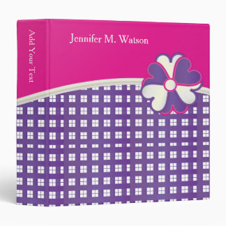 Popular Pink, White and Purple Weave | DIY Text 3 Ring Binder
