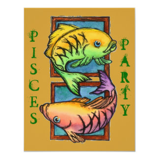 POPULAR PISCES PARTIES PARTY BIRTHDAY INVITATION
