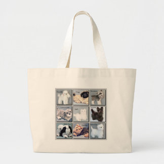 Popular Pooches Large Tote Bag