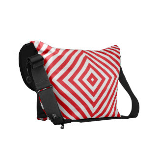 Popular Red Colors Black Rickshaw Bag Messenger Bags