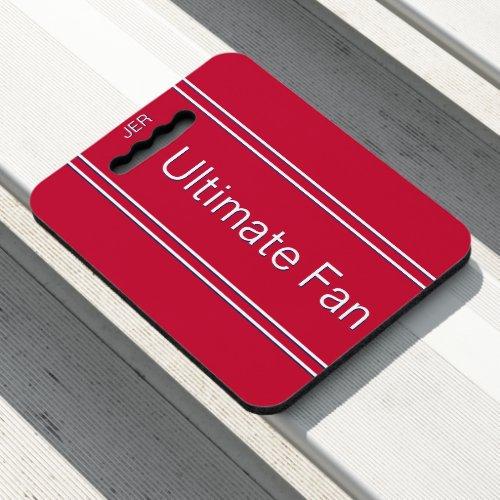Popular Red Ultimate Fan Monogrammed Stadium Sport Seat Cushion