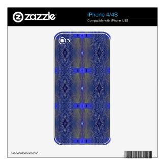 Popular Royal Blue Tribal Pattern iPhone 4S Skins