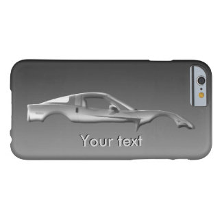 Popular Sports Car Customize Metal Text Template Barely There iPhone 6 Case