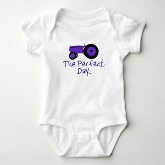 Popular tractor baby bodysuit