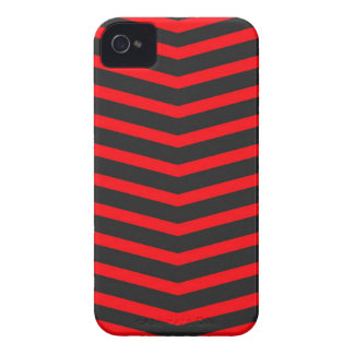 Popular Trendy Long Zig Zag Red and Black Stripes iPhone 4 Covers