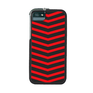 Popular Trendy Long Zig Zag Red and Black Stripes iPhone 5 Case