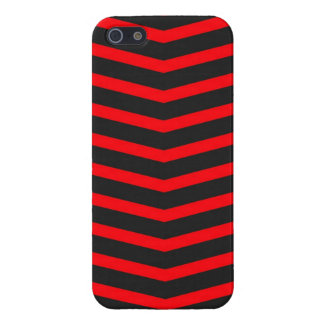 Popular Trendy Long Zig Zag Red and Black Stripes iPhone 5/5S Covers