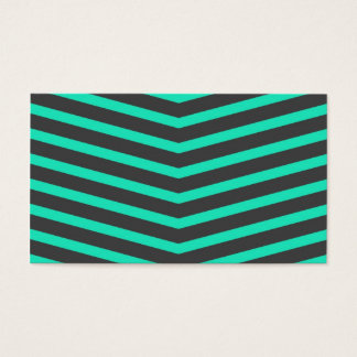 Popular Trendy Long Zig Zag Teal and Black Stripes Business Card