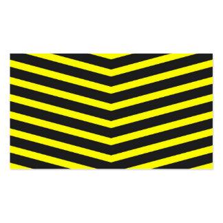 Popular Trendy Long Zig Zag Yellow black Stripes Business Card