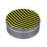 Popular Trendy Long Zig Zag Yellow black Stripes Candy Tins