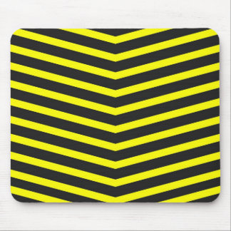 Popular Trendy Long Zig Zag Yellow black Stripes Mouse Pad