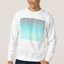 Popular turquoise Zigzag Chevron Retro Vintage Sweatshirt