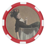Popular Vintage Party Girl Wine Glass Poker Chips Poker Chips Set