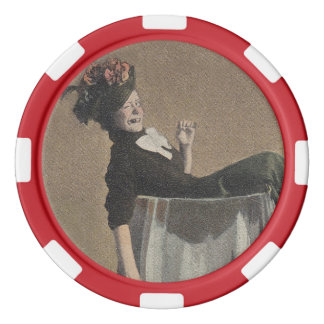 Popular Vintage Party Girl Wine Glass Poker Chips
