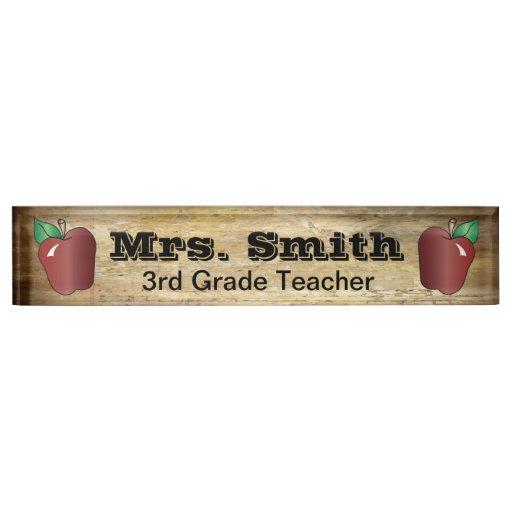 Popular Vintage Style School Teacher Desk Name Plate Zazzle