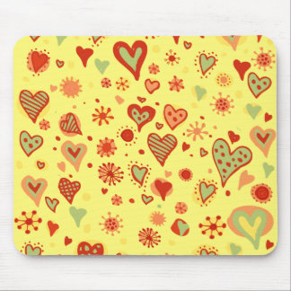 Populated Heart Mouse Pad