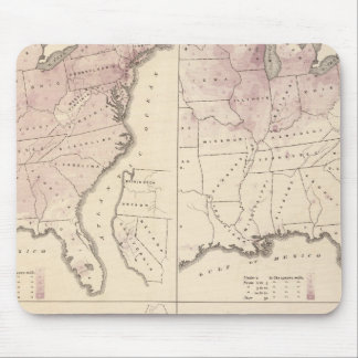 Population and Density - United States Census 1870 Mouse Pad