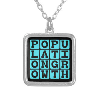 Population Growth Pregnant Personalized Necklace