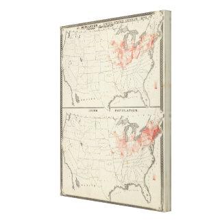 Population United States census 2 Canvas Print