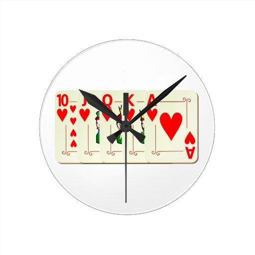 Póquer Royal flux Reloj Redondo Mediano