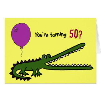 POR 50.a tarjeta de cumpleaños divertida de Croc
