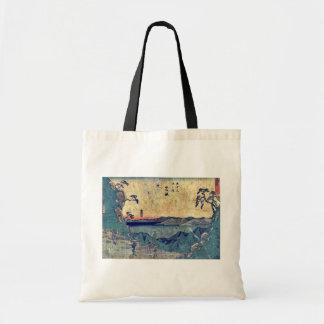 por Ando, Hiroshige Ukiyo-e. Bolsa Tela Barata