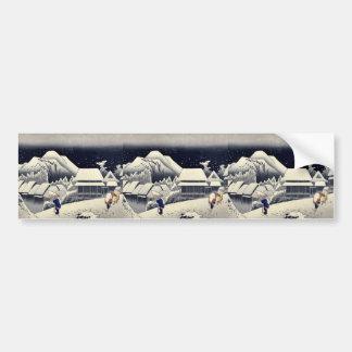 por Ando, Hiroshige Ukiyo-e. Pegatina Para Auto