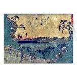por Ando, Hiroshige Ukiyo-e. Felicitacion