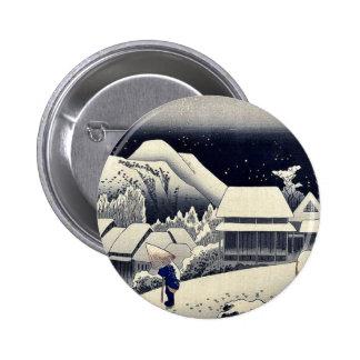 por Ando, Hiroshige Ukiyo-e. Pin Redondo De 2 Pulgadas