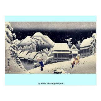por Ando, Hiroshige Ukiyo-e. Postal