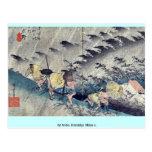 por Ando, Hiroshige Ukiyo-e. Postales