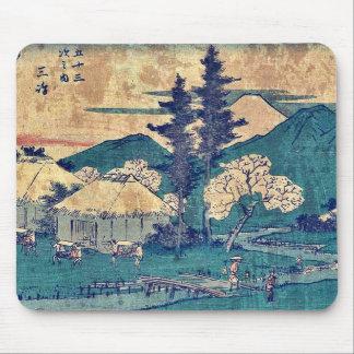 por Ando, Hiroshige Ukiyo-e. Tapete De Ratones