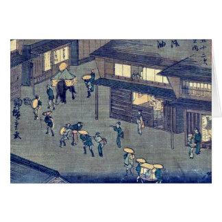 por Ando, Hiroshige Ukiyo-e. Felicitación