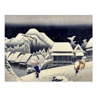 por Ando, Hiroshige Ukiyo-e. Tarjeta Postal