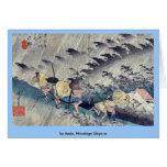 por Ando, Hiroshige Ukiyo-e. Tarjetón