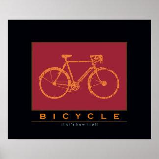 por-bici; ése es cómo ruedo póster