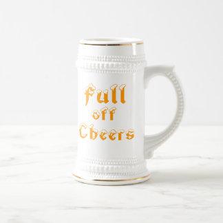 por completo de alegrías jarra de cerveza