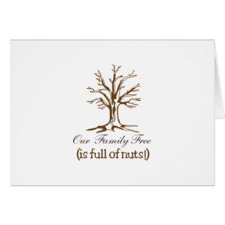 Por completo de nueces tarjeta de felicitación