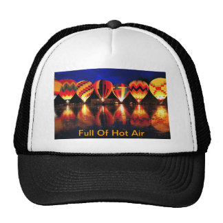 Por completo del aire caliente gorras